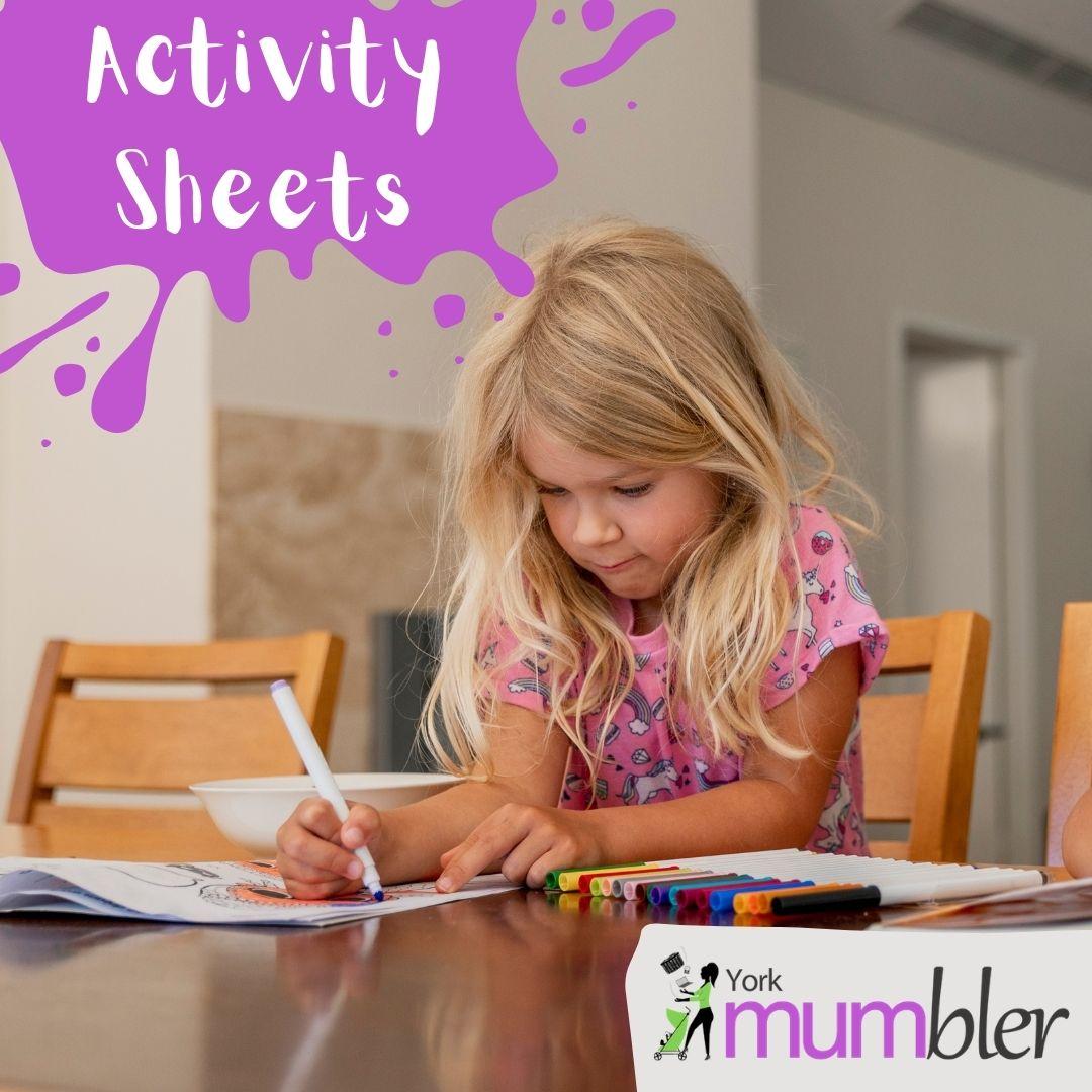 York Mumbler Colouring Sheets